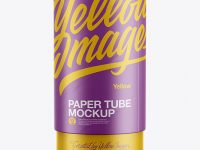 Paper Tube Mockup - Front View