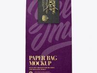 Paper Bag W/ Label Mockup - Front View