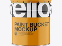 Matte Paint Bucket Mockup - Front View