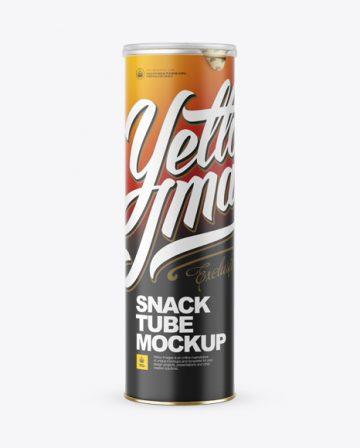 Matte Snack Tube Mockup - Front View