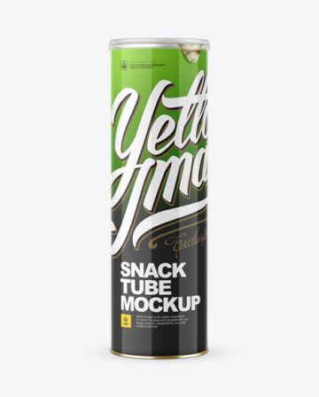 Glossy Snack Tube Mockup - Front View