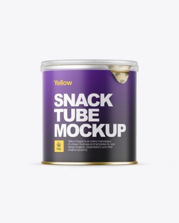 Small Matte Snack Tube Mockup - Front View