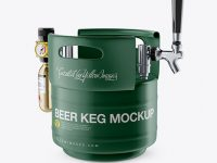 Matte Beer Keg Mockup - Half Side View