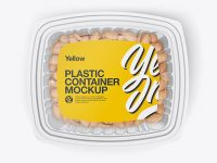 Transparent Container Mockup - Top View