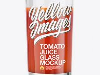 Glass With Tomato Juice Mockup