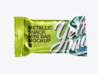 Small Metallic Snack Bar Mockup - Front View