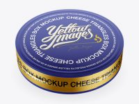 Cheese Triangles Package with Matte Metallic Tear Line Mockup