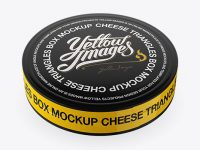 Cheese Triangles Package with Glossy Tear Line Mockup