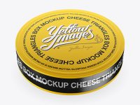 Cheese Triangles Package with Metallic Tear Line Mockup