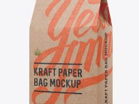 Kraft Paper Bag Mockup - Halfside View