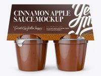 Cinnamon Apple Sauce 4-6 Oz. Cups Mockup - Front View