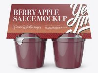Berry Apple Sauce 4-6 Oz. Cups Mockup - Front View