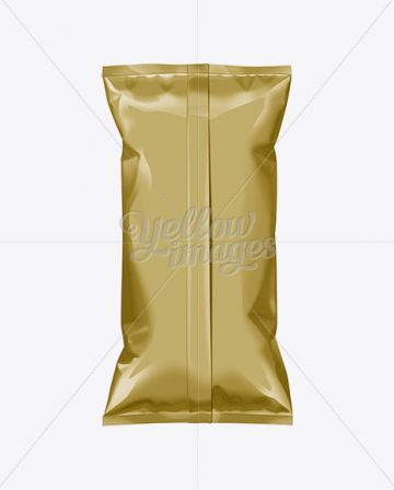 Gold Plastic Snack Package Large