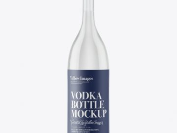 Long Neck Tequila Bottle Mockup