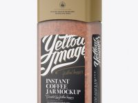 Frosted Jar With Instant Coffee Mockup - Halfside View