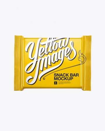 Glossy Square Chocolate Bar Mockup - Front View
