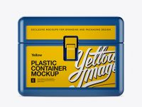 Plastic Container w/ Lock Mockup - Front View