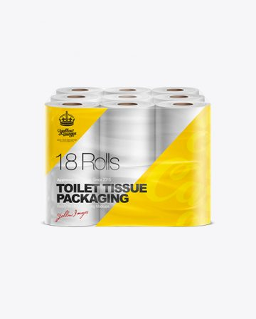 Toilet Tissue 18 pack Mockup