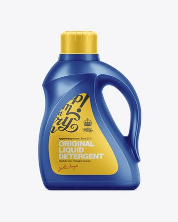 2.95L Liquid Detergent Bottle Mockup