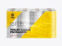 Toilet Tissue 16 pack Mockup