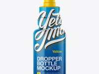 Dropper Bottle Mockup - Front View
