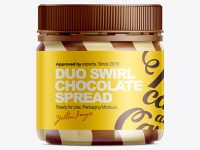 Duo Swirl Chocolate Spread Mockup