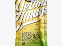 Matte Metallic Food Bag Mockup - Front View
