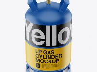 Matte LP Gas Cylinder Mockup - Front View (High Angle)