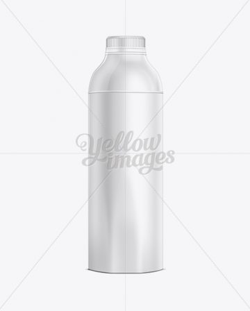 1L Plastic Juice Bottle Mockup
