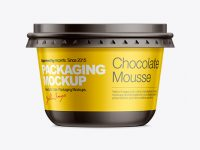 Plastic Container for Dairy Foods Mockup