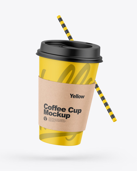 Download Matte Coffee Cup W/ Straw Mockup | Exclusive Mockups