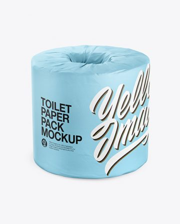Toilet Tissue Pack Mockup