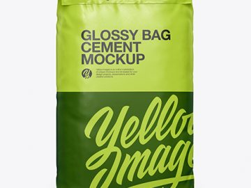 Glossy Cement Bag Mockup