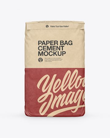 Kraft Cement Bag Mockup