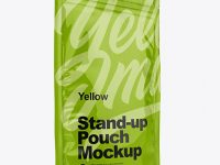 Glossy Stand Up Pouch with Zipper Mockup