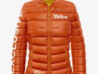 Matte Women's Down Jacket Mockup - Front View