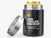 Opened Can Cooler Mockup