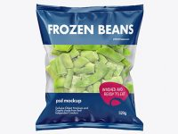 Plastic Bag With Frozen Beans Mockup