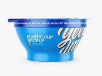 Plastic Yogurt Cup with Foil Lid Mockup