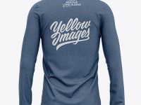 Men's Heather Long Sleeve T-Shirt - Back View