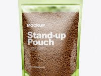 Stand-Up Pouch w/ Coffee Mockup