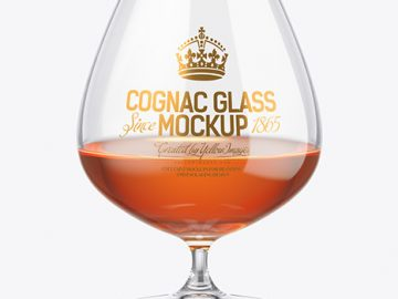 Cognac Glass Mockup