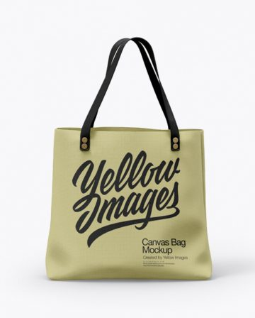 Free Canvas Bag Mockup - Front View