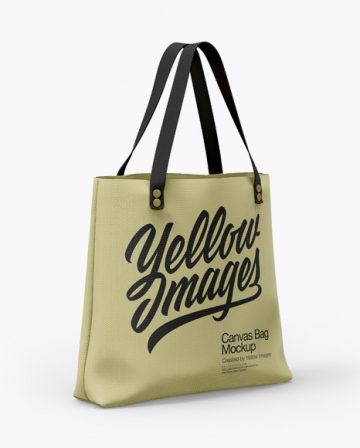 Canvas Bag Mockup - Half Side View