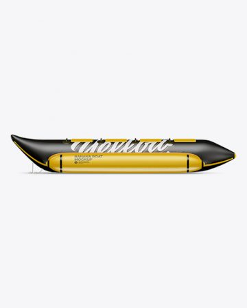 Matte Banana Boat Mockup - Side View