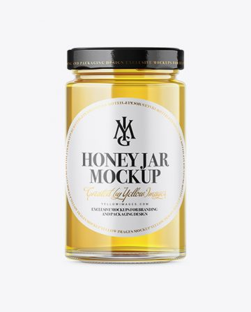 Pure Honey Jar Mockup