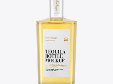 Tequila Bottle with Cork Mockup