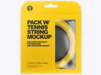 Pack with Tennis String Mockup