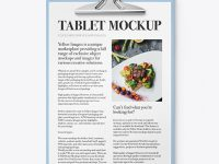 Plastic Tablet with Paper Mockup