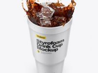 Styrofoam Cup With Cola Splash